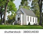 A White Church In The Garden  ...