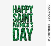 typographic saint patrick's day ... | Shutterstock .eps vector #380017030