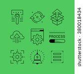 set of line vectors icons in...   Shutterstock .eps vector #380018434