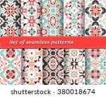set of mexican stylized... | Shutterstock .eps vector #380018674