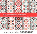 set of mexican stylized... | Shutterstock .eps vector #380018788