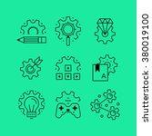 set of line vectors icons in... | Shutterstock .eps vector #380019100