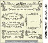 vector set  calligraphic design ... | Shutterstock .eps vector #380023330