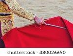 a bullfighter awaiting for the... | Shutterstock . vector #380026690
