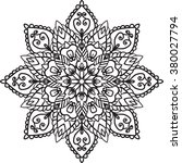 isolated mandala.henna tattoo | Shutterstock . vector #380027794
