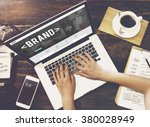 brand branding marketing... | Shutterstock . vector #380028949