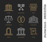 vector set of logo design... | Shutterstock .eps vector #380033506