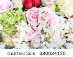 backdrop of colorful paper... | Shutterstock . vector #380034130