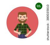 man holding spanner | Shutterstock .eps vector #380035810