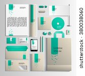 corporate identity template in... | Shutterstock .eps vector #380038060