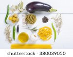 italian food ingredients on... | Shutterstock . vector #380039050