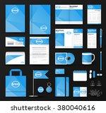 corporate identity template set.... | Shutterstock .eps vector #380040616