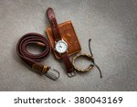 Men\'s Accessories With Brown...