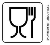 food safe sign. international... | Shutterstock . vector #380044663