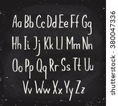 hand drawn alphabet written... | Shutterstock .eps vector #380047336