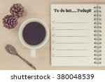 to do list today concept. | Shutterstock . vector #380048539