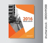 orange vector leaflet brochure... | Shutterstock .eps vector #380049088