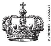 crown hand drawn illustration... | Shutterstock .eps vector #380052196