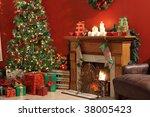 festive christmas interior | Shutterstock . vector #38005423