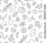 seamless pattern with healthy... | Shutterstock .eps vector #380057284