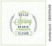 spring vintage retro style... | Shutterstock .eps vector #380059648