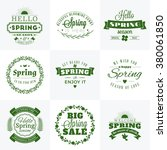 set of spring vintage... | Shutterstock .eps vector #380061850