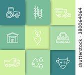 agriculture  farming line icons ... | Shutterstock .eps vector #380064064
