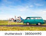 Jumping Frieds With Campervan ...