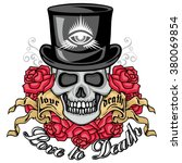 gothic coat of arms with skull  ... | Shutterstock .eps vector #380069854