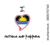 antigua and barbuda flag... | Shutterstock .eps vector #380070760