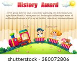 certificate template with... | Shutterstock .eps vector #380072806