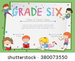 certificate template for... | Shutterstock .eps vector #380073550