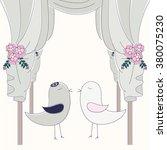 birds under hupa. jewish...   Shutterstock .eps vector #380075230