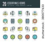 line icons set. trendy modern... | Shutterstock .eps vector #380077633