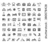 black icons   travel | Shutterstock .eps vector #380078428