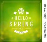 spring vector typographic...   Shutterstock .eps vector #380079610