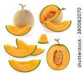 Set Cantaloupe Melon Slices...