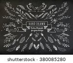 vector collection of chalkboard ... | Shutterstock .eps vector #380085280