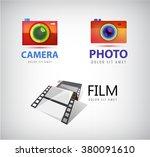 vector set of camera logos ... | Shutterstock .eps vector #380091610