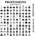 professions 100 icons  profile... | Shutterstock .eps vector #380091640
