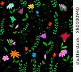 seamless pattern with flowers... | Shutterstock .eps vector #380100940