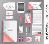 white identity template with... | Shutterstock .eps vector #380102776