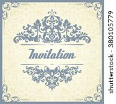 vintage template with pattern... | Shutterstock .eps vector #380105779