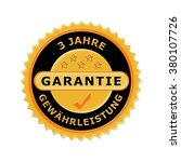 german icon 3 years warranty | Shutterstock . vector #380107726
