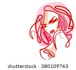 stylish  original hand drawn... | Shutterstock . vector #380109763