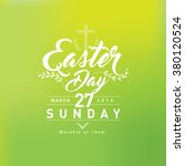 happy easter day greetings ... | Shutterstock .eps vector #380120524