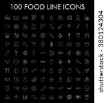 100 food line icons set. eps 10. | Shutterstock .eps vector #380124304