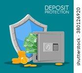 bank deposit vector... | Shutterstock .eps vector #380126920