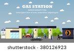 gas station concept vector... | Shutterstock .eps vector #380126923