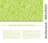 farm fresh healthy food vector...   Shutterstock .eps vector #380129023